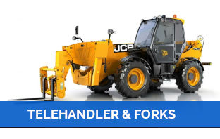 telehandler and forks Hire