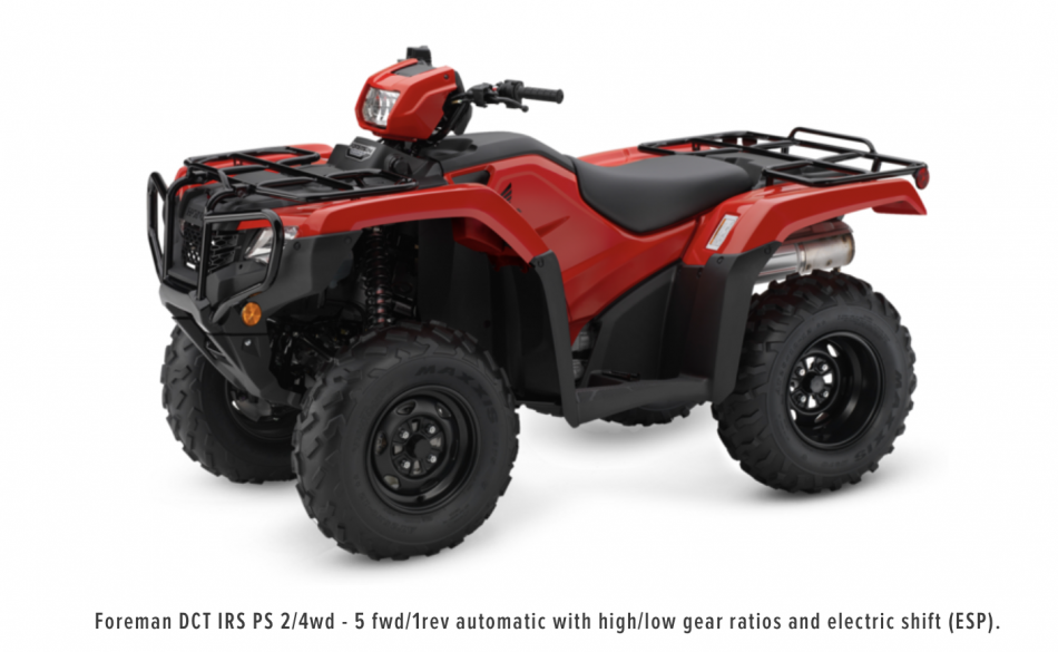Honda Foreman 500 DCVT IRS PS Quad ATV