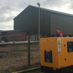 Energy Generators powers a wheel wash for a Waste Management Company in Bedford
