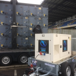 Energy supply 22kva super-silent generator to Oxford United Stadium