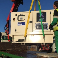 110kVA FG Wilson generator sent to Birmingham to cover power outage