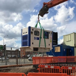 Long-term generator hire for construction site in Hemel Hempstead
