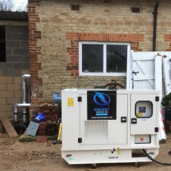 Our new range of 22kva generators out on long term hire in Wallingford