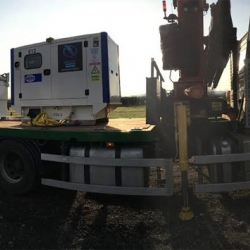 Long term generator hire for construction site in Leicester