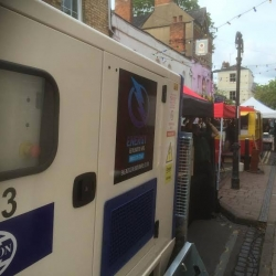 We provided power for North Parade market in Oxford