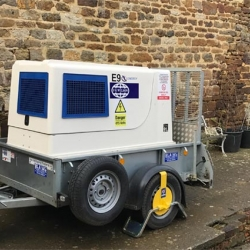 Temporary generator hire for workshop in Banbury