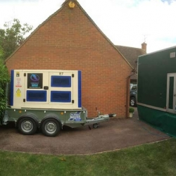 Generator and cabling for Aylesbury wedding